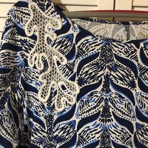 Lilly Pulitzer Dresses - NWOT cute Lilly Pulitzer 3/4 sleeve cotton dress L